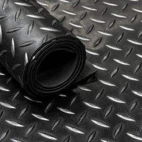 rubber rol diamant motief zwart rubberloper