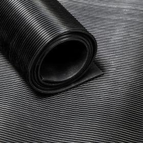 Rubber loper / rubbermat op rol - fijne ribbel - Dikte 3mm - Breedte 60 cm