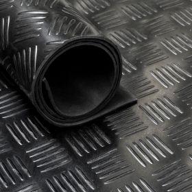 Rubber loper / rubbermat op rol Traanplaat 3mm - Breedte 140 cm