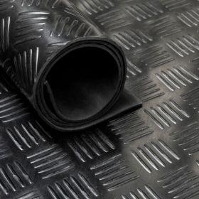 Rubber loper / rubbermat op rol van 10 m2 - Traanplaat 3 mm - Breedte 100 cm