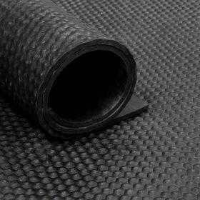 Rubber loper / rubbermat op rol Hamerslag 8mm - Breedte 200 cm
