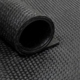 Rubber loper / rubbermat op rol van 20 m2 - Hamerslag 10 mm - Breedte 200 cm