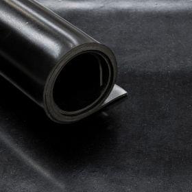 Rubberplaat - SBR 2 Inlagen - Dikte 15mm - Breedte 140 cm - Rol van 5 m