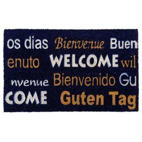 Kokosmat 'Welcome / Bienvenue / Bienvenido / Guten Tag' - 50x80 cm