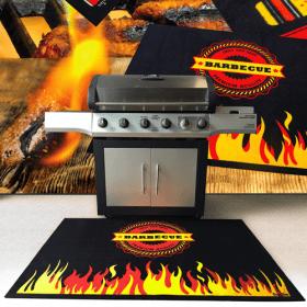 berschermde mat voor onder barbecue