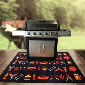 barbecue mat ter bescherming van grond