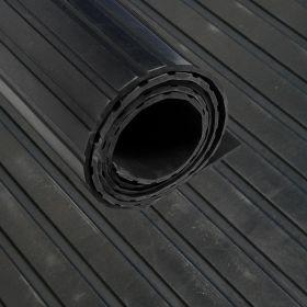 rubbermat op rol brede ribbel