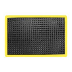rubber werkplaatsmat met gele rand 60x90 cm