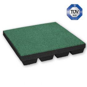 Rubber tegel 55 mm - 50 x 50 cm - Groen