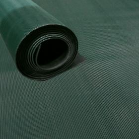 rubbermat op rol - fijne ribbel groen -