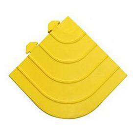 Modulaire werkplaatsmat - Anti vermoeidheidsmat - Geel hoekstuk
