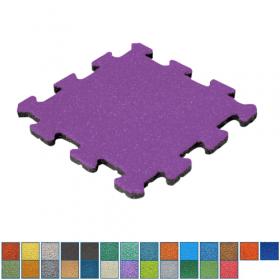 gekleurde rubber tegel puzzelsysteem - 25 mm