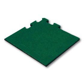 hoekstuk rubber tegel groen