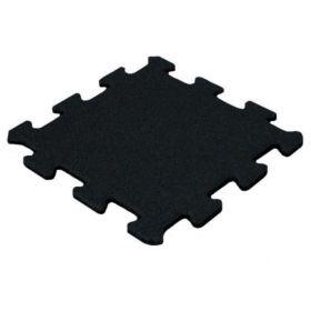 Rubber sportvloer tegel 15mm puzzel - fijn granulaat