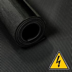 VDE loper / hoogspanningsloper / isolatiemat - 3 mm 30 Kv - Breedte 100 cm - Per strekkende meter - Zwart