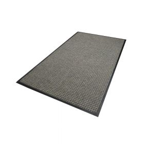 Waterhog Classic droogloopmat / schoonloopmat 115x180 cm - Rubber border - Grijs