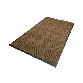 Waterhog Diamond droogloopmat / schoonloopmat 115x180 cm - Rubber border - Camel