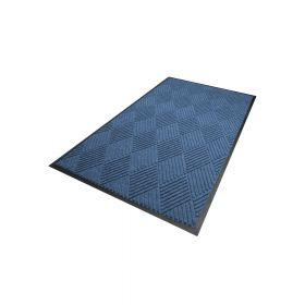 Waterhog Diamond droogloopmat / schoonloopmat 90x150 cm - Rubber border - Blauw