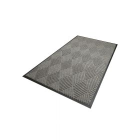 Waterhog Diamond droogloopmat / schoonloopmat 90x150 cm - Rubber border - Grijs