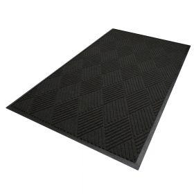 Waterhog Diamond droogloopmat / schoonloopmat 180x250 cm - Rubber border - Antraciet
