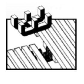 Yoga Roll verbindings clips voor roostermat op rol - Type 1 (L+L of B+B) - 10 stuks 1