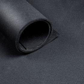 Sportvloer - Per strekkende meter - Breedte 1,25 m - Dikte 10 mm - Zwart